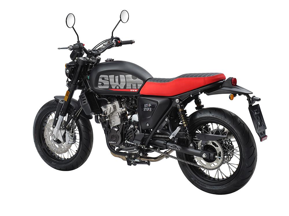 Swm Motorcycles Ace of Spade lato sinistro
