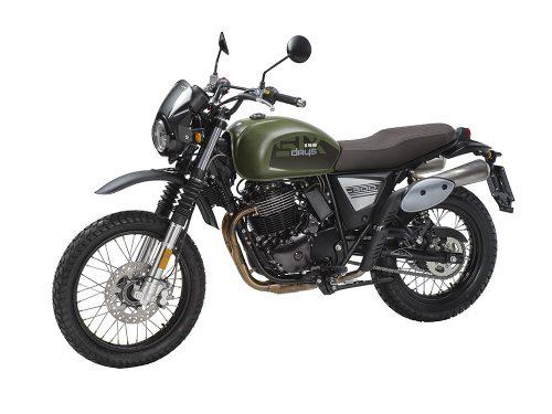 SWM Motorcycles SixDays verde oliva lato